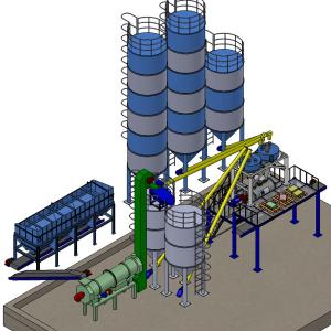 модель линии завода сухих строительных смесей