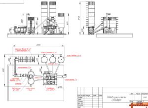 чертеж завода сухих строительных смесей