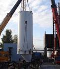 Установка силосов на завод по производству газобетона