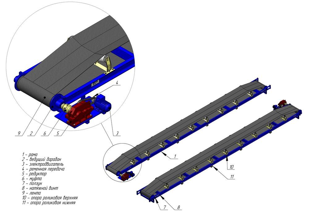 Монтаж ленточного конвейера центробежная камне дробилка