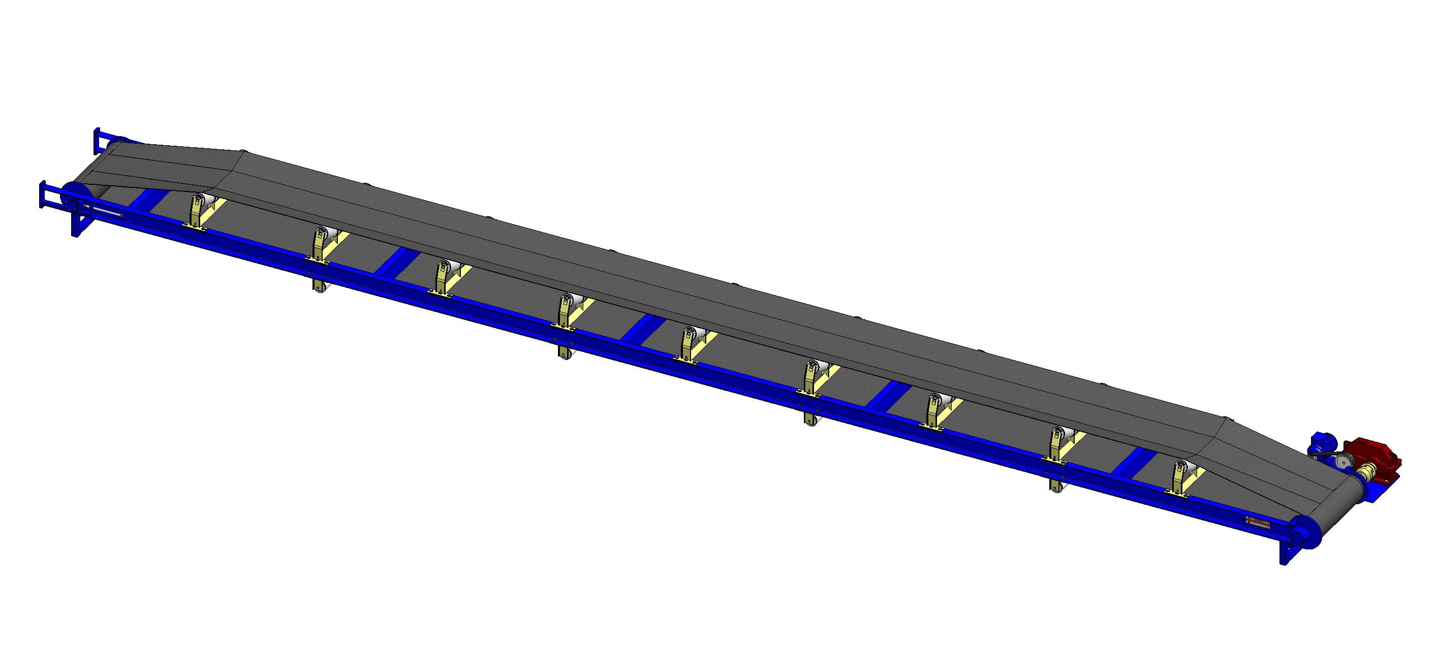 ременная передача ленточного конвейера