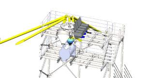 модель рамы и смесителя завода сухих смесей