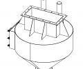 бункер для приема смеси из смесителя сухих смесей
